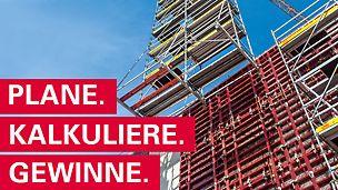 """Die internationale PERI Baubetriebsübung ist ein mit € 20.000 dotierter Wettbewerb für alle Schüler/innen und Studenten/innen einer Ausbildungseinrichtung aus dem Bereich """"Bau""""."""
