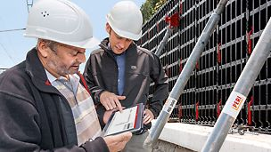 Added value along the entire value chain – in this respect, PERI presented among other things new digital solutions. One highlight: the DUO Planner, an app for easy planning of the lightweight universal formwork. (Photo: PERI GmbH)