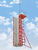 QUATTRO column formwork can be moved with only one crane lift complete with push-pull props and concreting platform – alternatively by hand using transportation wheels.