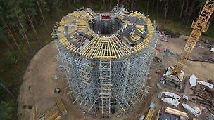 Rusztowania podporowe PERI zbiornika na wodę na Wyspie Sobieszewskiej