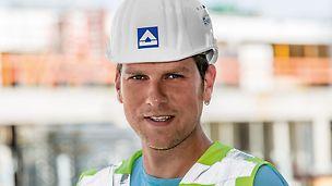 Porträt von Mike Franke, Bauleiter bei HOCHTIEF Infrastructure GmbH, Building Berlin