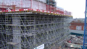 PERI UP - the versatile scaffolding system aids a hospital build in Belfast