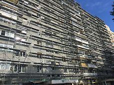 Reabilitare termică Imobil șos. Mihai Bravu nr. 444 - Schelă de fațadă PERI UP T72 pentru reabilitarea termică a blocului V10 - șos. M. Bravu, București
