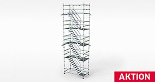 Aktionsbild der PERI UP Flex Up Treppe 75