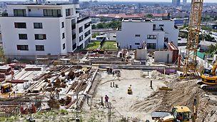 Belaria Koliba, Bratislava, Slovensko - Zhotoviteľ sa okrem výberu kvalitných materiálov zameral aj na voľbu spoľahlivého dodávateľa debniacich systémov s pridanou hodnotou. Keď oslovil spoločnosť PERI, bolo zrejmé, že si nekupuje len materiál, ale aj celé spektrum profesionálnych služieb, ktoré sa začalii oveľa skôr, ako boli zahájené prvé výkopové práce na Kolibe.