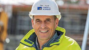 Portrait von Mathias Schunkert, Bauleiter bei Faber & Schnepp, Hoch- und Tiefbau GmbH & Co. KG, Gießen