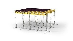 Variabilné stropné nosníkové debnenie pre každý pôdorys a hrúbku stropu do 1,00m s nosníkom GT 24
