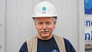 Portrait von Detlef Kraft, Polier bei Warnemünder Bau GmbH