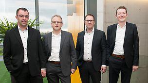 La direction de PERI BeNeLux (g à d) : Olivier Jantzen, Reiner Schwarz, Rudi Marinus et Peter Dillen.