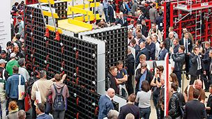 DUO celebrated its world premiere at the international trade fair bauma 2016 in Munich. The innovative product convinces thanks to very lightweight system components and a design focussed on simple application. Furthermore, system components can be used for forming walls, columns and slabs.