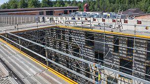 Rekonstrukce a vestavba hotelu Evropa, Mariánské Lázně: Lešení PERI UP Rosett Flex: Největší bezpečnost a produktivita