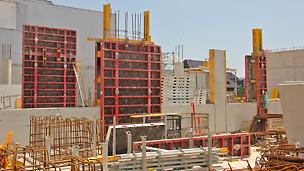 Die MAXIMO Schalung sorgte am Bau für rasches und sicheres vorankommen der Arbeiten.