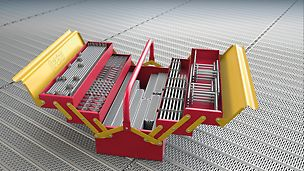 Die PERI UP Innovation - Das Rahmen- mit dem Modulgerüst zu einem einheitlichen und durchgängigen Systembaukasten vereint.