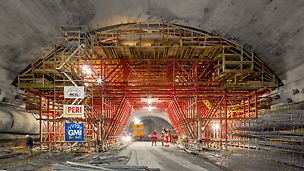 The fabrication of the subterranean machine cavern as well as the two intake structures require a sophisticated formwork plan as well as expert jobsite support.