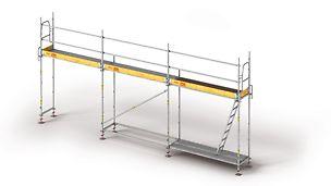 Facade scaffolding