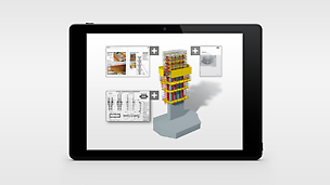 The individual, pre-assembled formwork units are provided with a QR code which allows direct access to a wide range of data via one mouse click. Thus, drawings or assembly instructions are linked with the 3D model.