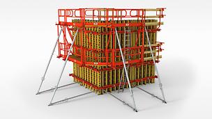 Flexible girder wall formwork, also for high-grade architectural concrete surfaces.