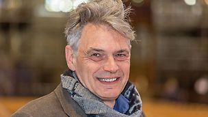 Porträt von Michael Hilbert, Münsterbaumeister bei der Münsterbauhütte, Ulm