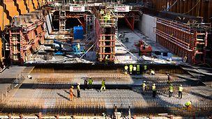Marieholmstunneln byggs som en 300 meter lång sänktunnel ansluten till 100 meter långa cut-and-cover-tunnlar