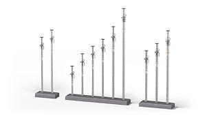 Popii tubulari din oțel galvanizat de la PERI cu o capacitate portantă până la 50 kN