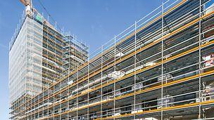 Rohbau des IN-Towers - 2 Tage pro Geschoss voraus mit integriertem Schalungs- und Gerüstkonzept