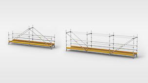 Graben- und Behelfsbrücken aus Gerüstbauteilen für den sicheren Zugang zur Baustelle