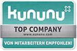 Das Gütesiegel für gut bewertete Arbeitgeber auf kununu.com
