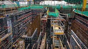 第一部分的建筑工程进行中
