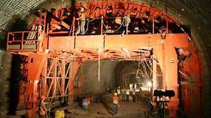 Túnel da Queimada II - Vista transversal na 1ª betonagem