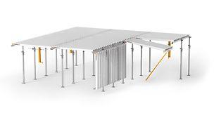 Všestranné a hospodárné stropní bednění s velmi snadnou montáží a maximální mírou bezpečnosti páce.