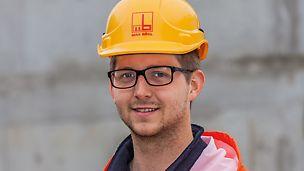 Porträt von Daniel Hanneken, Bauleiter der Firmengruppe Max Bögl, Standort Hamburg