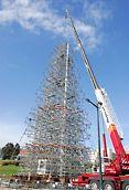 Árvore de Natal - Lisboa - Montagem: Elevação dos troços