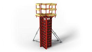 LICO: Cofragem de pilares leve para cofragem manual económica