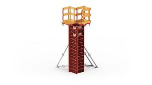 Легкая опалубка колонн для оптимизации затрат и монтажа без крана.
