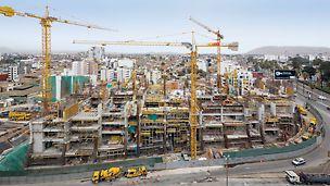 UTEC University Campus, Lima, Peru - Mithilfe der projektspezifisch angepassten PERI Schalung- und Gerüstlösung entsteht in Lima der neue Campuskomplex – bei hohen architektonischen Ansprüchen und einer kurzen Bauzeitvorgabe.