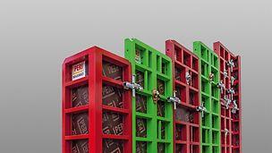 MAXIMO Rahmenelemente sowie Innen und Schachtecken sind auch in 3,00 m sowie 3,60 m Höhe verfügbar. Diese zusätzlichen Elementhöhen werden auf Wunsch geliefert und sorgen für weitere Zeitersparnis bei größeren Geschosshöhen zum Beispiel im gehobenen Wohnungsbau oder auch bei Tiefgaragen.