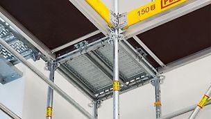 Für die Standardausführung der Innenecke werden zwei Rahmenzüge in der Ecke einfach mit einem Riegel verbunden.