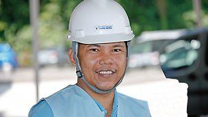 Allan Moreno, specialista na bednění, TiongSeng Contractors (Pte) Ltd., Singapur