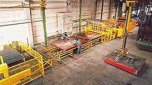 Selbst die Materialrücknahme ist kundenorientiert gelöst. So lässt sich die Demontage und die Reinigung des Schalungsgerätes in den PERI Logistikzentren zu kostengünstigen Konditionen vereinbaren.