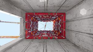 Die MAXIMO Schachtecke ist eine 90° Innenecke und dient zugleich als Ausschalelement.