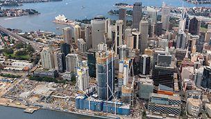 International Towers Sydney ITS, Barangaroo South, Sydney: Část města Sydney v prostoru bývalého kontejnerového přístavu, nacházejícího se západně od centra na rozloze 22 ha, se tímto odvážným projektem Barangaroo Redevelopment podstatně změní. Velkou část tohoto projektu tvoří komplex výškových budov ITS.