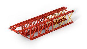 Der Rüstbinder setzt sich aus verschiedenen last- und längenoptimierten Rahmentypen zusammen, die durch entsprechende Kombinationen stufenlos jede Spannweite ermöglichen.