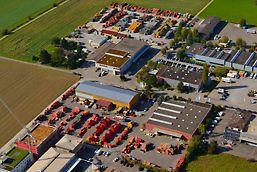 Luftbild vom Standort Ohringen, Schweiz