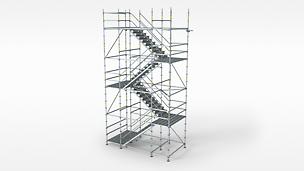 Työmaakulkutie helposti asennettavila askelmilla ja korkealla kuormituskapasiteetilla.