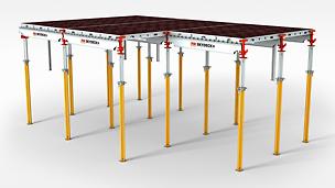SKYDECK Valvform: Alla delar är tillverkade av aluminium; valvluckor och bockryggsbalkar väger mindre än 16 kg