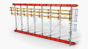 The tool-free assembled prop for loads up to 200 kN Verktøyfri monteringsstøtte for laster opp til 200 tonn. PERI forskaling domino Trio Quatro søyle panel dekke vegg