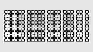 Bekistingssysteem met maar liefst 6 verschillende breedtes en 2 hoogtes. Ideaal voor gebruik op de werf waar de platen moduleerbaar moeten zijn.