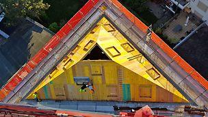 Übersicht der Baustelle von oben