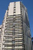 Edifício Tridente - Perspectiva geral do andaime montado
