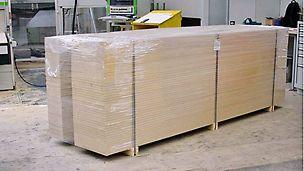 CNC-unterstützter Zuschnitt von Knaggen und anderen losen Platten.